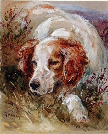 A Spaniel von James Hardy Junior (1832-1889) | WahooArt.com