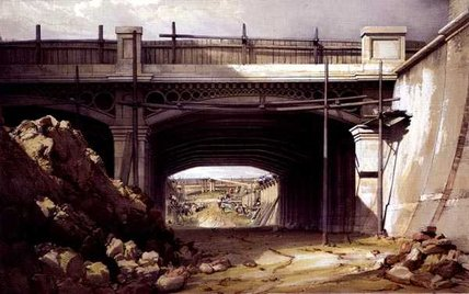 Hampstead Road Bridge von John Cooke Bourne (1814-1896, United Kingdom) | WahooArt.com