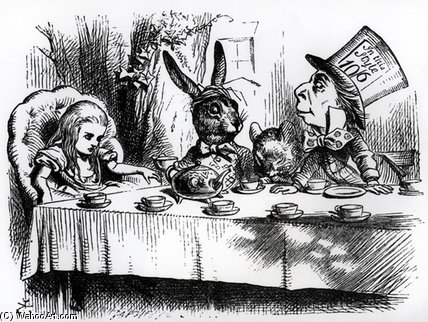 die mad Hatter's tee party von John Tenniel (1820-1914, United Kingdom)