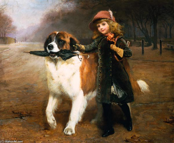 Off To School - von Charles Burton Barber (1845-1894, United Kingdom)