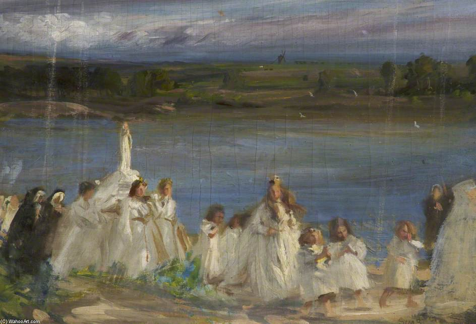 Prozession von Charles Henry Sims (1873-1928, United Kingdom) | WahooArt.com