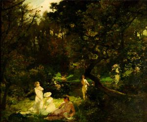 Charles Henry Sims - der bathers