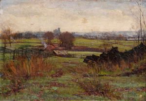 Claude Hayes - Finchley Road Fields, Hampstead