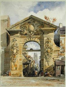 Edward William Cooke - porte guillaume leon , rouen on