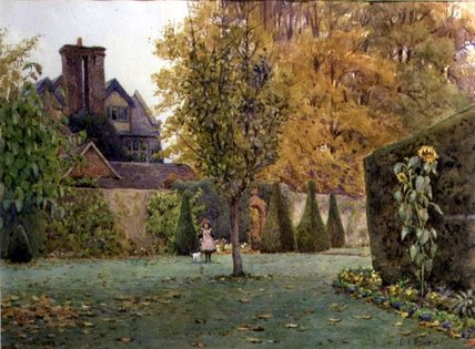 Loseley Park von Ernest Arthur Rowe (1863-1922, United Kingdom)