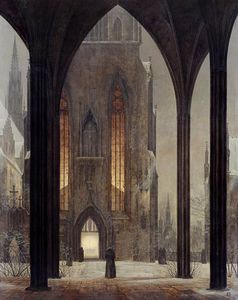 Ernst Ferdinand Oehme - Kathedrale in im Winter