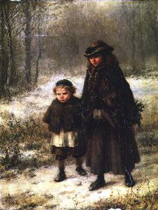 George Henry Boughton - ein winter Morning's Gang