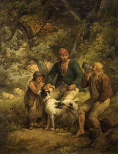 George Morland - Der Peasants' Mahl