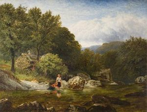 George Vicat Cole - On The River Lledr