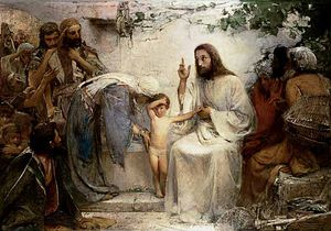 George William Joy - christus sowohl den klein Kind