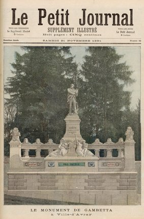 Denkmal Zu Gambetta In Ville-d Avray von Henri Meyer (1844-1899, France)