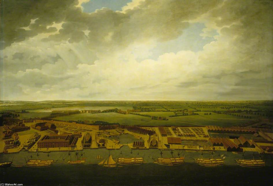 Deptford Werft von Joseph Farington (1747-1821, United Kingdom)