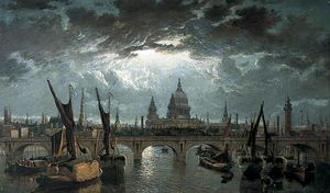 William Anderson - london brücke und st `paul's` durch mondlicht