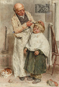 William Henry Hunt - der friseur