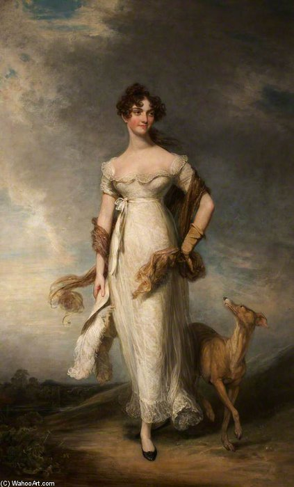 Bestellen Kunstdrucke Auf Leinwand : Georgiana Mari, Lady Leicester von William Owen (1769-1825, United Kingdom) | WahooArt.com