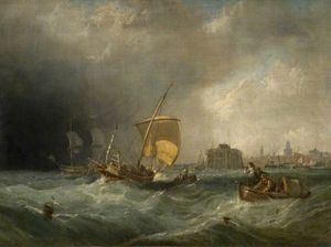 Clarkson Frederick Stanfield - The Coming Storm Calais