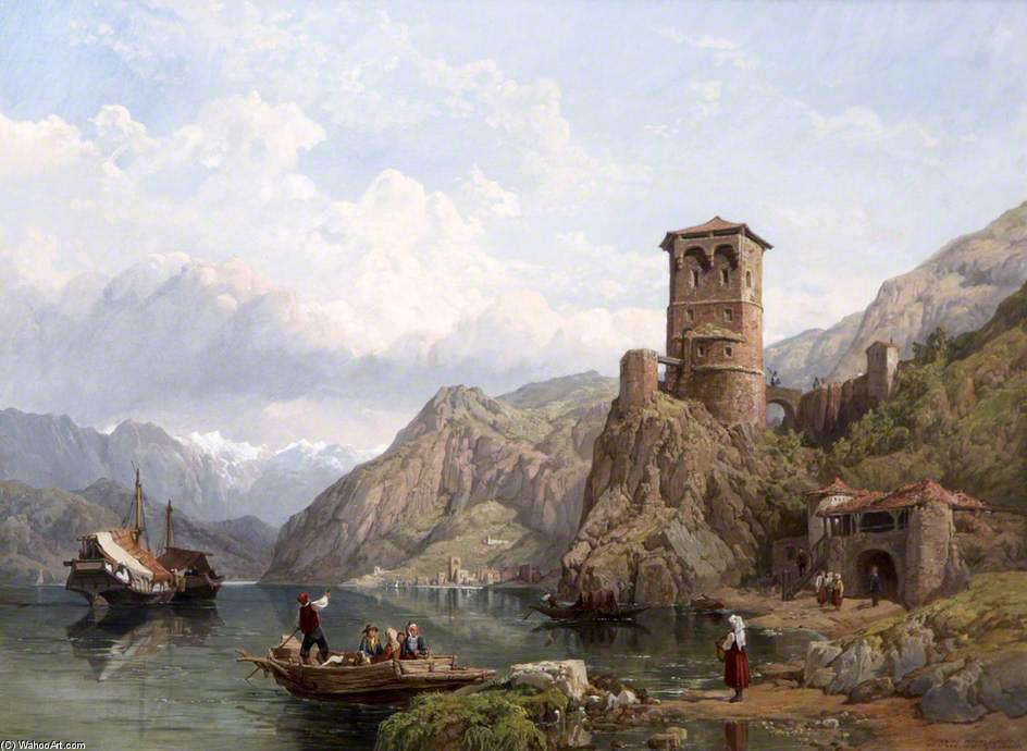Gardasee von George Clarkson Stanfield (1793-1867, United Kingdom)
