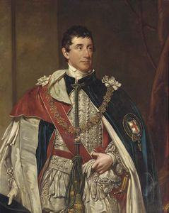 Henry William Pickersgill - Porträt von Thomas Thynne, The Second Marquis Of Bath, Dreiviertel-Länge, In Garter Robes
