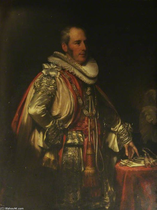 sir charles bagot von Henry William Pickersgill (1782-1875, United Kingdom) | Malerei Kopie | WahooArt.com