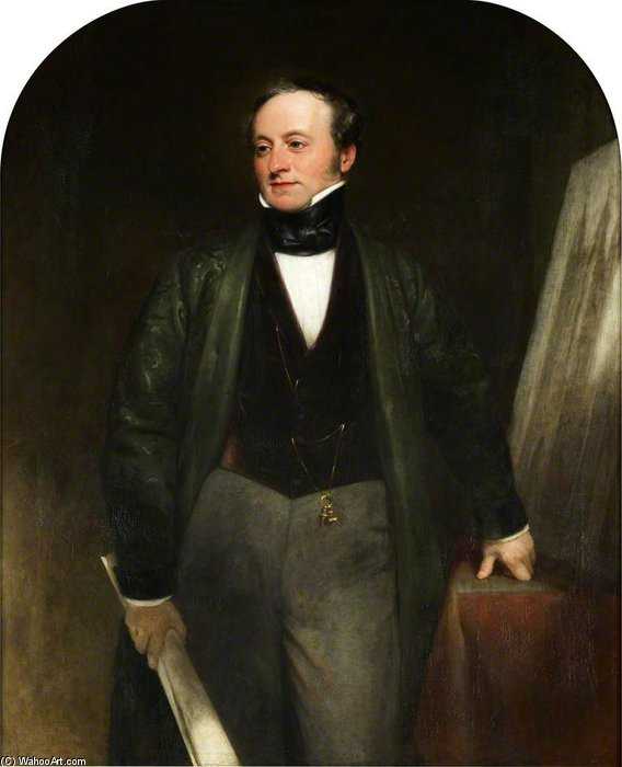 sir charles barry , Ra von Henry William Pickersgill (1782-1875, United Kingdom) | Kunst-Wiedergabe | WahooArt.com