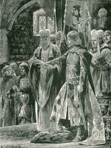 Richard Caton De Woodville - Die Investitur William II mit dem Ring