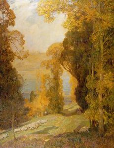 Alfred Edward East - lac du bourget vom mont revard