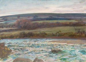 Alfred James Munnings - Brightworthy Ford, Withypool, Exmoor - (10)