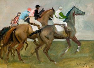 Alfred James Munnings - Studie für 'die Start -