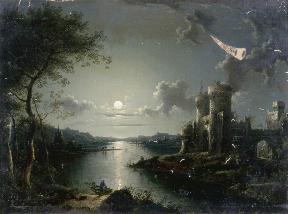moonlit szene von Henry Pether (1828-1865, United Kingdom)