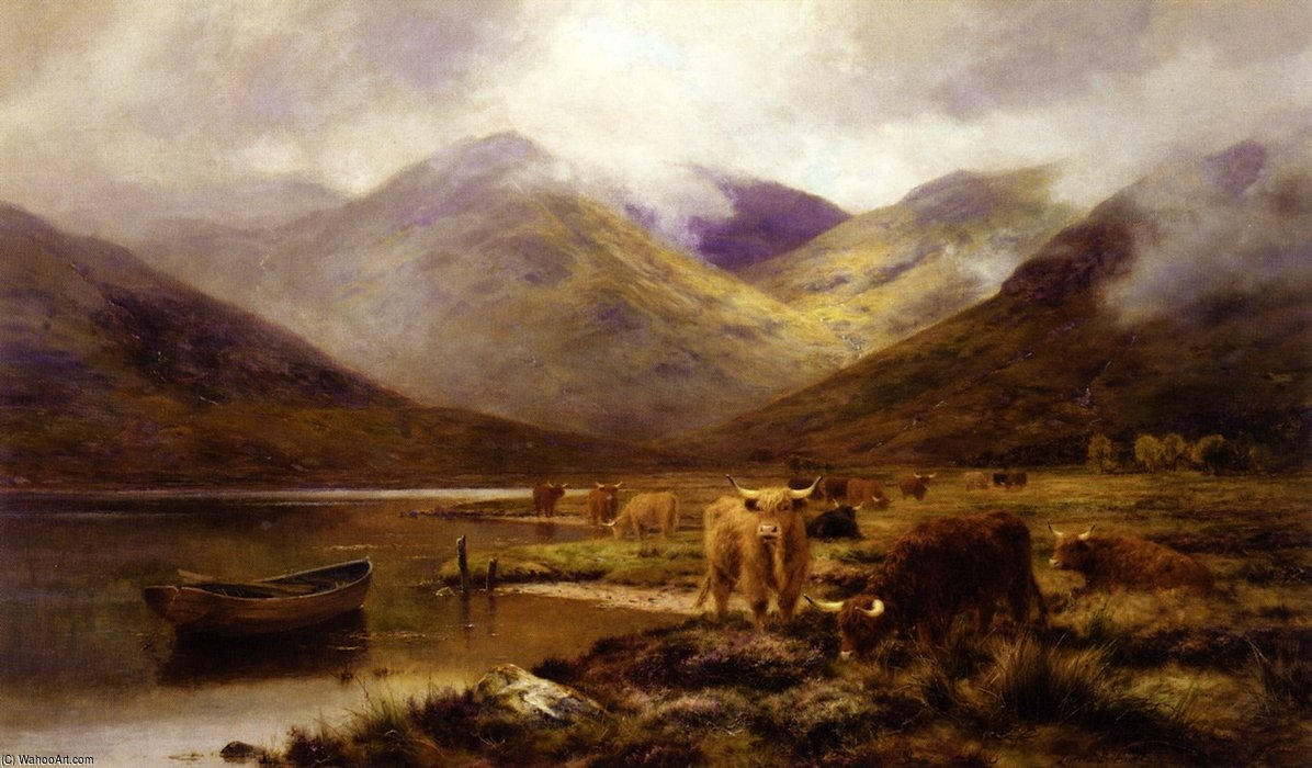 Ein Bergschlucht in ardgour von Louis Bosworth Hurt (1856-1929, United Kingdom)