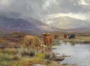 Louis Bosworth Hurt - A Rainy Day in den Highlands