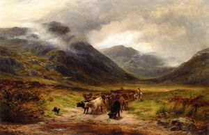 Louis Bosworth Hurt - cattle droving in den highlands