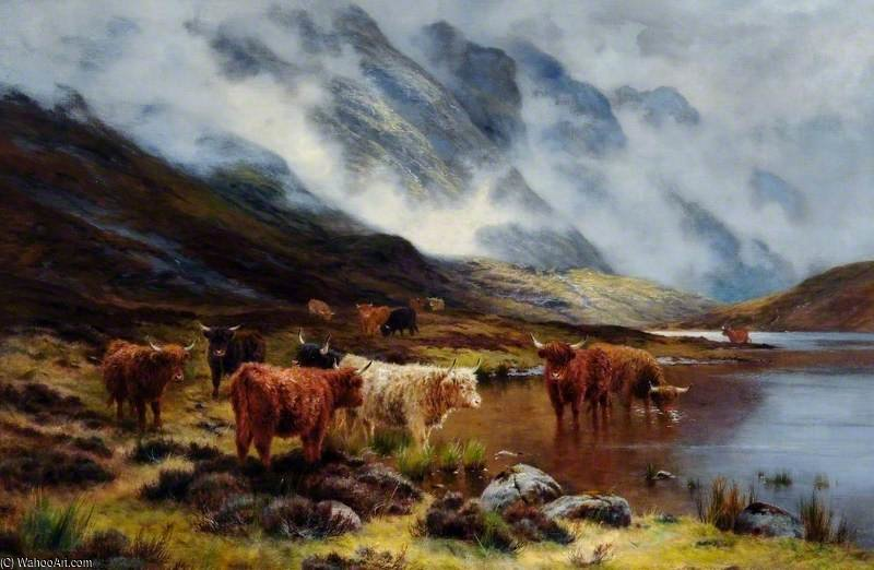 Highland Cattle von Louis Bosworth Hurt (1856-1929, United Kingdom)