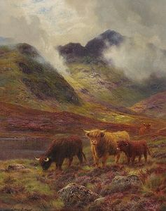 Louis Bosworth Hurt - Highland Cattle Grazing
