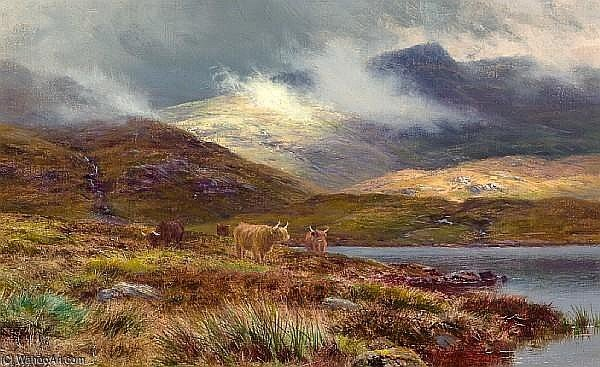 hills bei lochgoilhead von Louis Bosworth Hurt (1856-1929, United Kingdom)