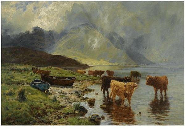 Rainswept Hills von Louis Bosworth Hurt (1856-1929, United Kingdom)