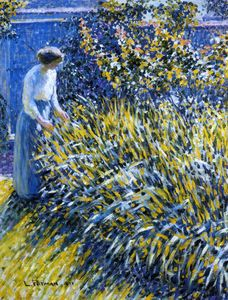 Louis Ritman - dame in a garten