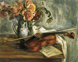 Louis Ritman - Stilleben violine