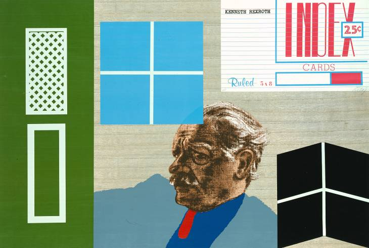 kenneth rexroth von Ronald Brooks Kitaj (1932-2007, United States)