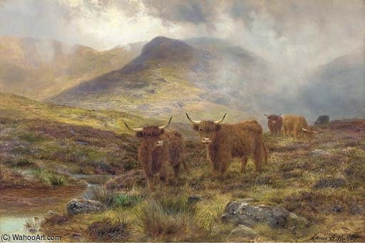 Ein Skye Heidemoor von Louis Bosworth Hurt (1856-1929, United Kingdom)