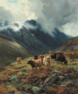 Louis Bosworth Hurt - Glencoe , Verfolgend Nebel