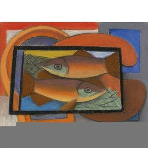 Mark Gertler - studie für fische in glas fall
