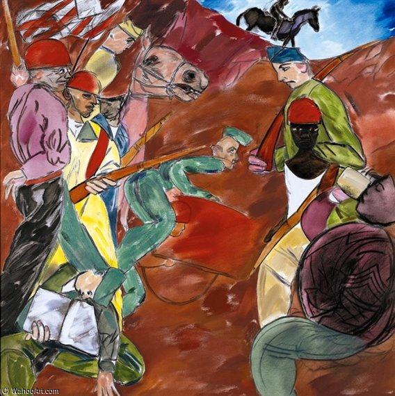 fort dix von Ronald Brooks Kitaj (1932-2007, United States)