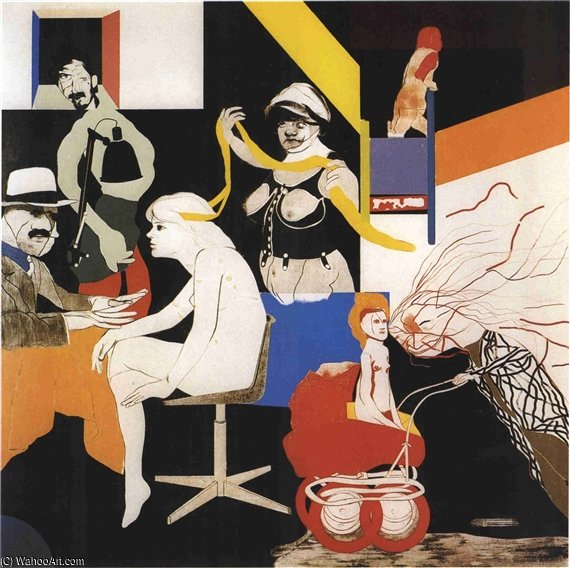 Die Ohio Gang von Ronald Brooks Kitaj (1932-2007, United States)