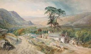 Thomas Sewell Robins - View Of Llanrwst Von Bettws-y-Coed