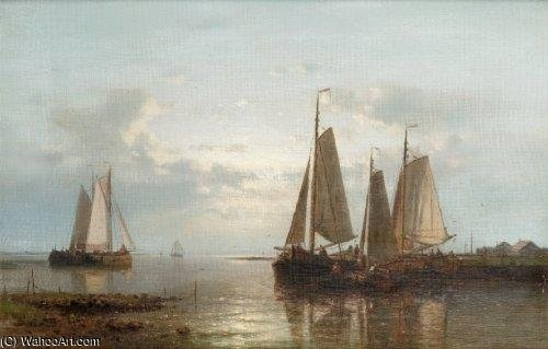 Evening On The Coast von Abraham Hulk Senior (1813-1897, Netherlands)
