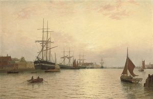 George Stanfield Walters - Timber Ships Off Yarmouth