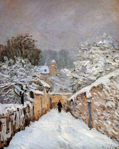 Alfred Sisley - Schnee in Louveciennes Sun