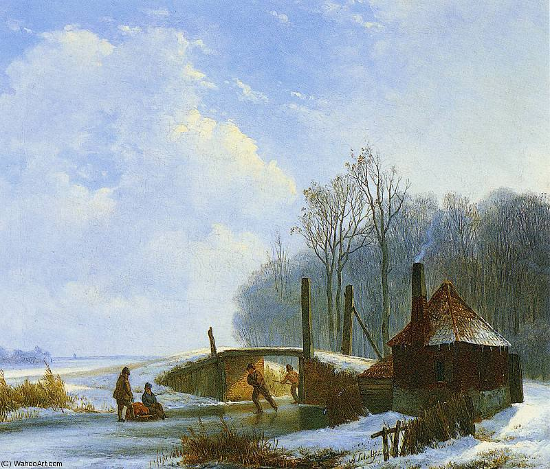 scaters Sonne von Andreas Schelfhout (1787-1870, Netherlands) | WahooArt.com