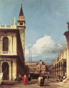 Giovanni Antonio Canal (Canaletto) - ETTO Die Piazzetta Blick in Richtung Clock Tower